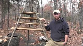 The Best Bushcraft Camp Fire Setup Part 2- Multi Tier Smoke Rack