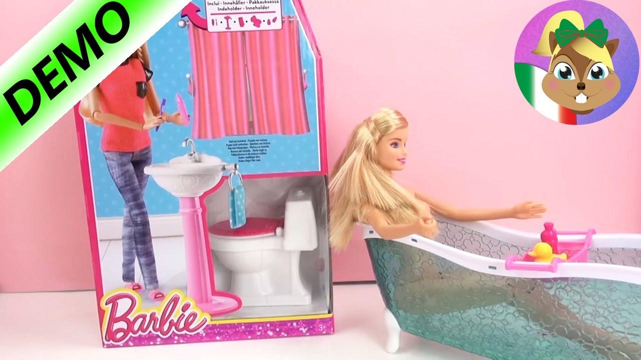 Lavandino e gabinetto di Barbie  apertura kit e commenti  barbie va in bagno  YouTube