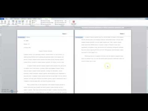 mla format on word 2010