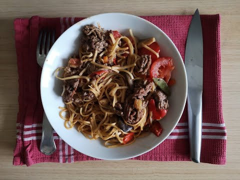 nouilles-asiatiques-aux-bœuf-haché-et-légumes---recette-petit-dejeuner-copieux-du-dimanche
