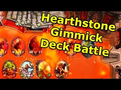 Hearthstone Gimmick Deck Battles with Rob/Rurikar/OldManWillakers