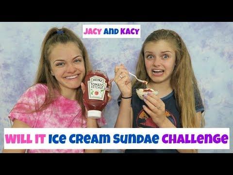 Will It Ice Cream Sundae Switch Up Challenge ~ Jacy and Kacy