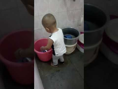 Water purifying by baby