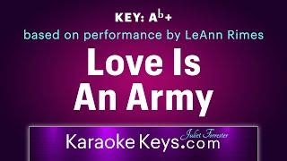 Love Is An Army.   LeAnn Rimes  (karaoke piano) WITH LYRICS