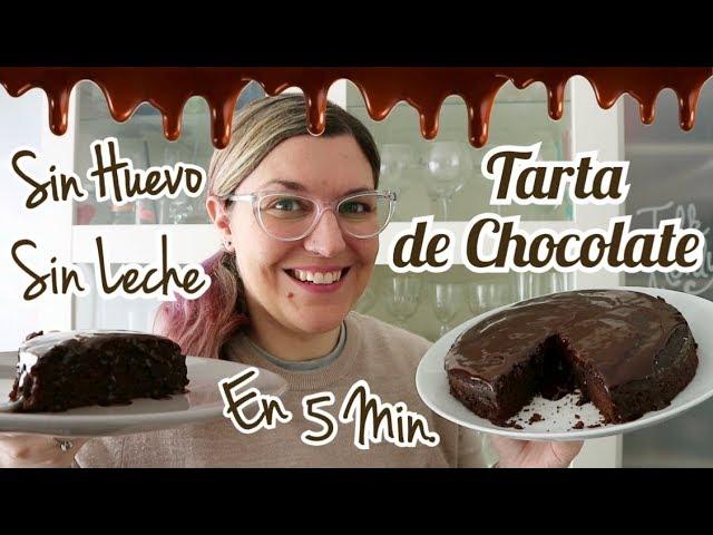 TARTA DE CHOCOLATE SIN HUEVO Y SIN LECHE FACIL Y RAPIDA