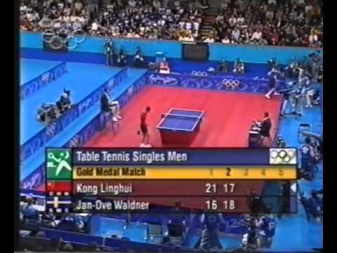 Kong Linghui  vs. Jan-Ove Waldner 2000 Olympic Table Tennis Men