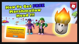 HOW TO GET FREE MARSHMALLOW HEAD | Roblox Event | Roblox