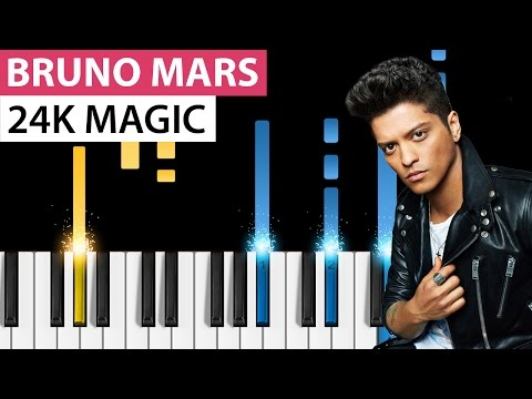 Bruno Mars - 24K Magic - Piano Tutorial - How to play 24K Magic on piano