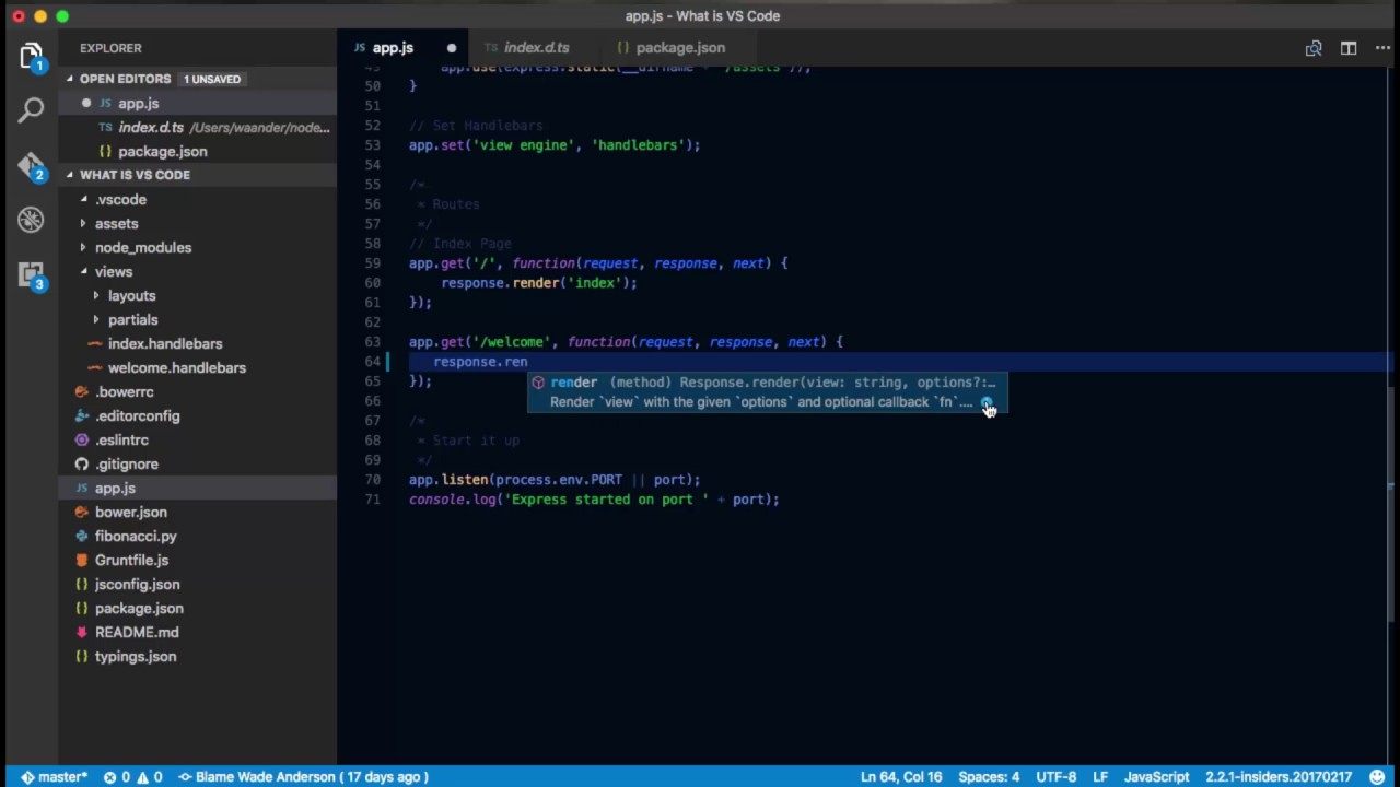 VS Code - IntelliSense