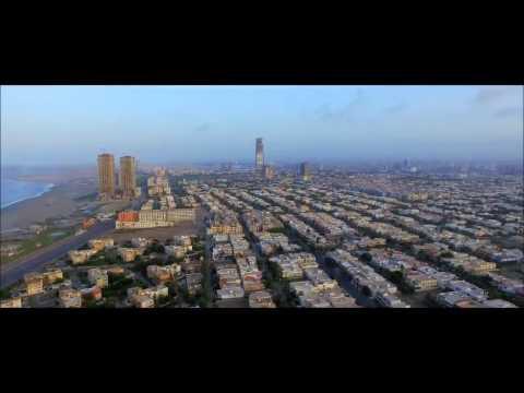 Karachi City 2017  Beach and Clifton Drone Camera Recording