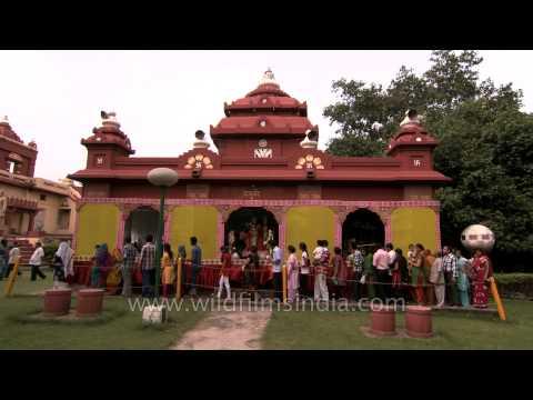 Pandal set up during Janmashtami celebration