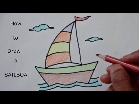 Learn how to draw Sailboat