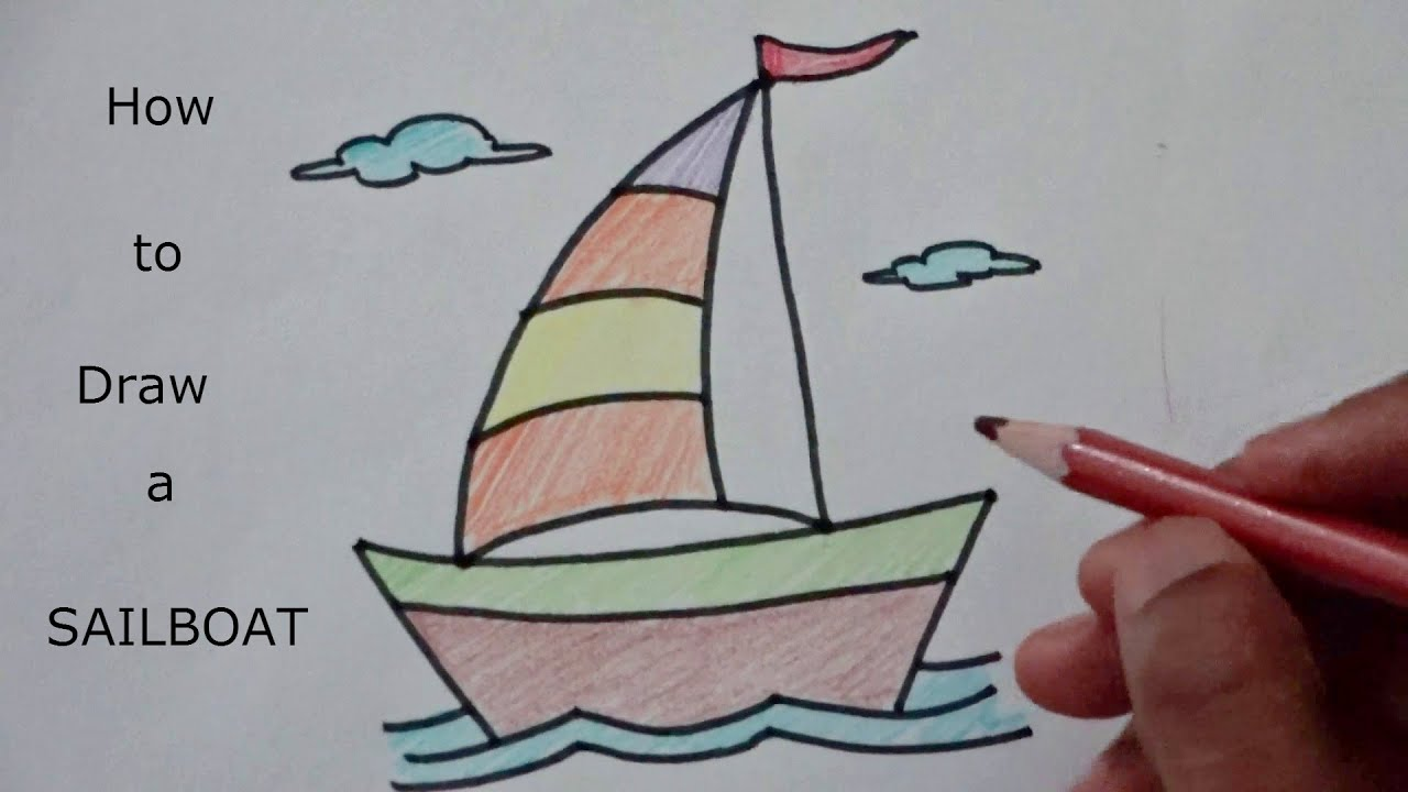 learn how to draw sailboat youtube