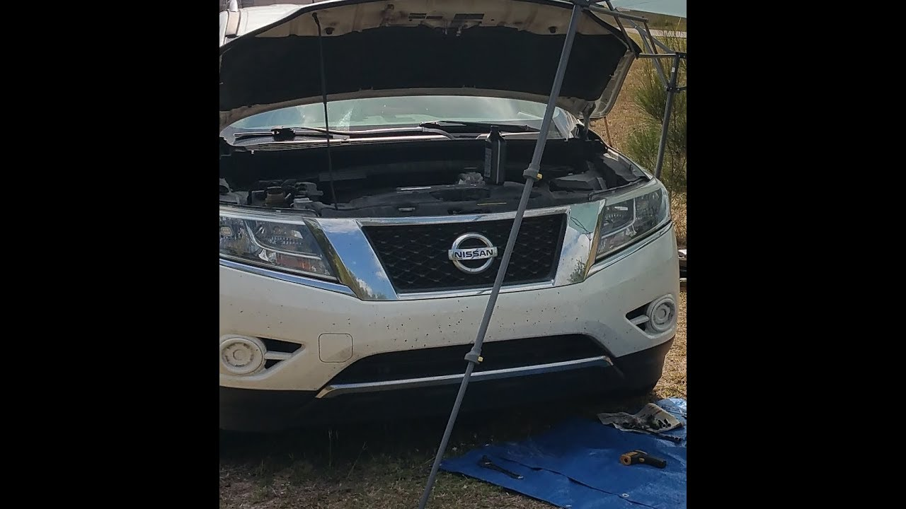 hight resolution of 2013 2016 nissan pathfinder cvt fluid change and check po218 cvt without dip stick
