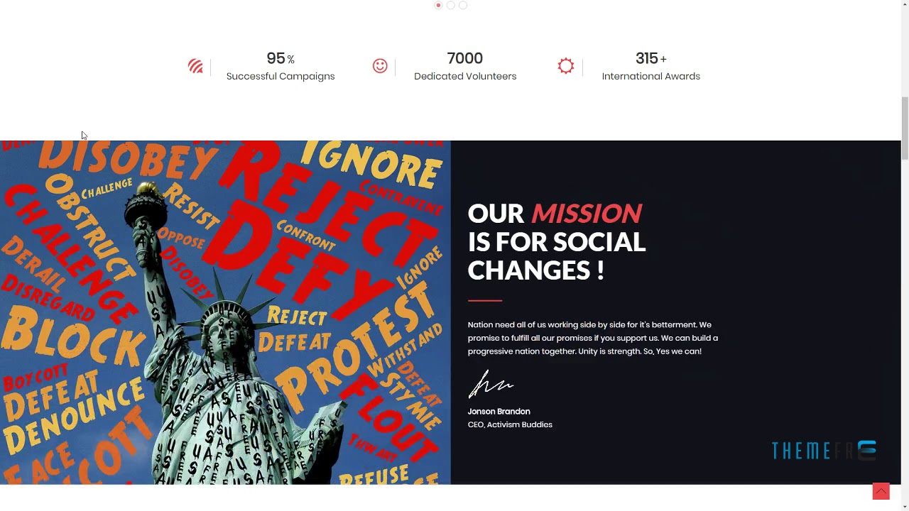 Activism Buddies - Social Campaign and Non Profit HTML5 Template