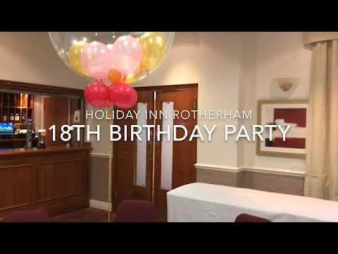 18th Birthday Balloons at Holiday Inn Rotherham