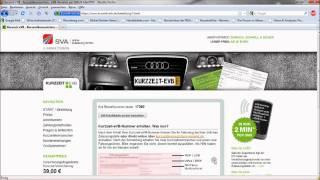 Kurzzeitkennzeichen-eVB Kurzzeit-eVB Kurzzeitversicherung Überführungskennzeichen