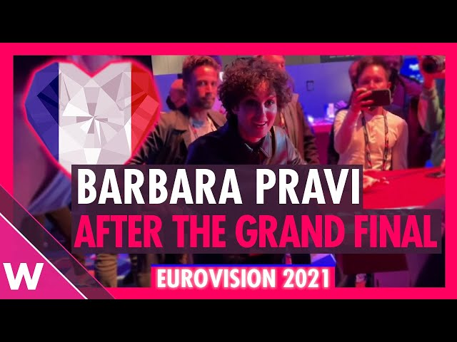 Barbara Pravi (France - Eurovision 2021 Second Place)   Interview after grand final