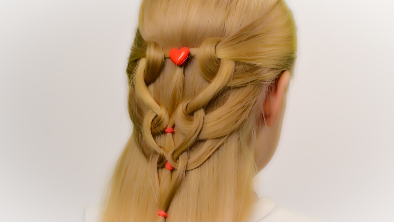 Valentines Hairstyles: Very Quick And Easy Hairstyles With Hearts For St