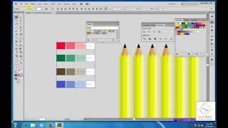 Illustrator Tutorial | Graphic Design | 3D Pencil & Eraser