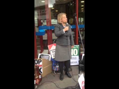 Natalie Bennetts speech outside Ashton under lyne Jobcentre today.