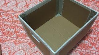 DIY – Organizador feito de caixa de papelão