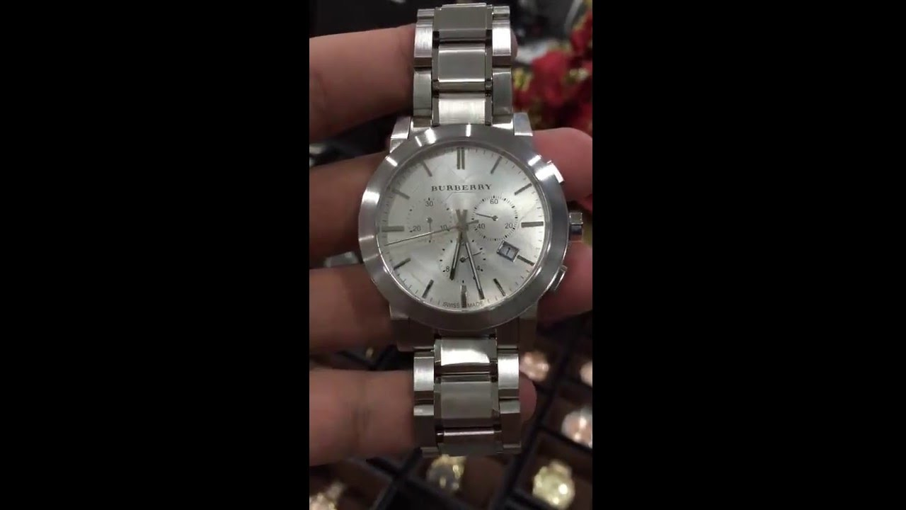 1e16cef88af BURBERRY Silver Dial Chronograph Stainless Steel Men  39 s Watch BU9350