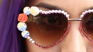 Flower Sunglasses ♥ DIY