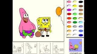 spongeBob coloring game - SpongeBob раскраски игры - игры для девочек