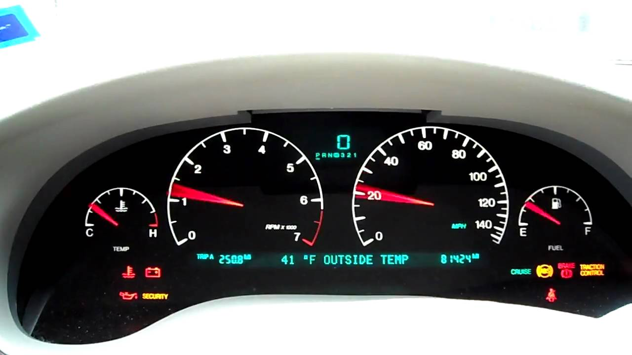 2000 Cadillac Seville Instrument Panel Startup Youtube