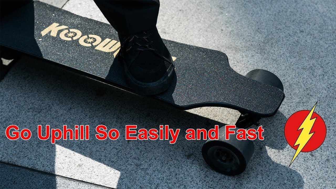 Go Uphill With Fast Koowheel Electric Skateboard