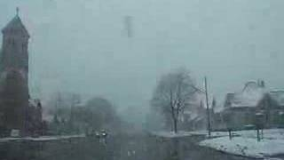 Driving in Winona, MN on a snowy Easter