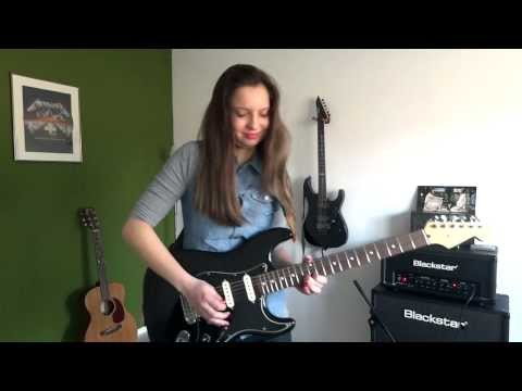 Hysteria - Muse By Cissie On Guitar Incl Solo - HD