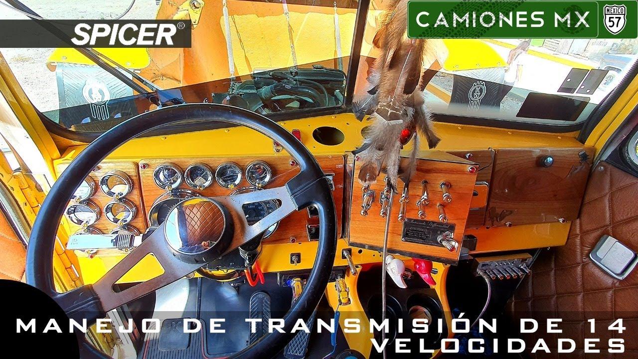 ¡Manejo de transmisión de 14 velocidades en Camiones Mx!
