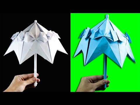How to make a paper Umbrella | Paper Crafts | DIY