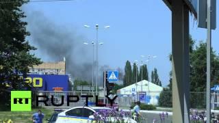 Украинская армия бомбит международный аэропорт Донецка(В районе аэропорта города Донецка, который сегодня утром приостановил обслуживание рейсов, слышны взрывы...., 2014-05-26T12:22:34.000Z)