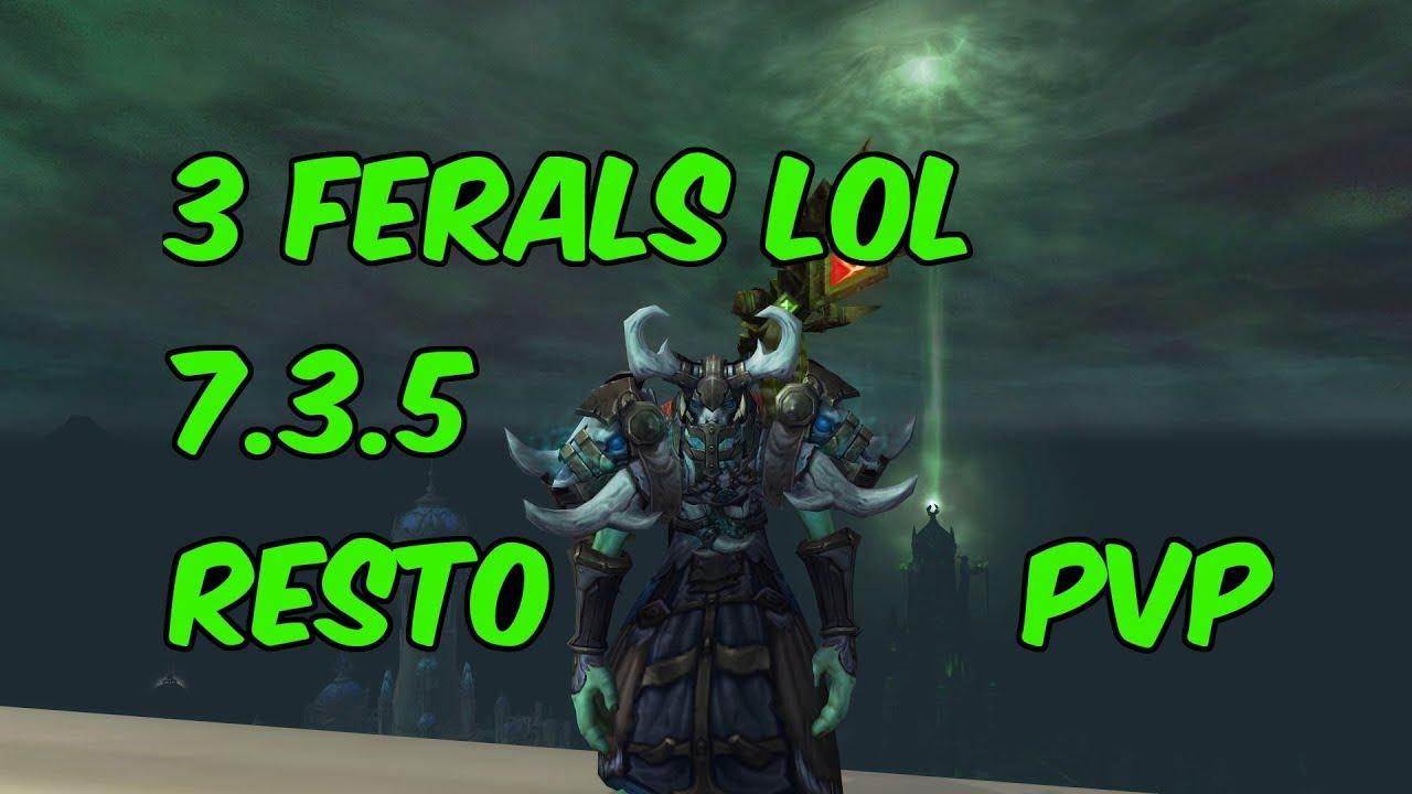 3 Ferals Lol 7 3 5 Restoration Druid Pvp Wow Legion Youtube