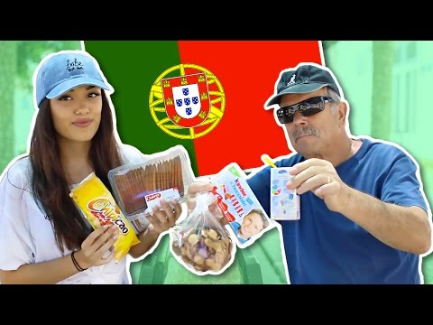 TRYING PORTUGUESE FOOD w/ Portuguese Grandfather