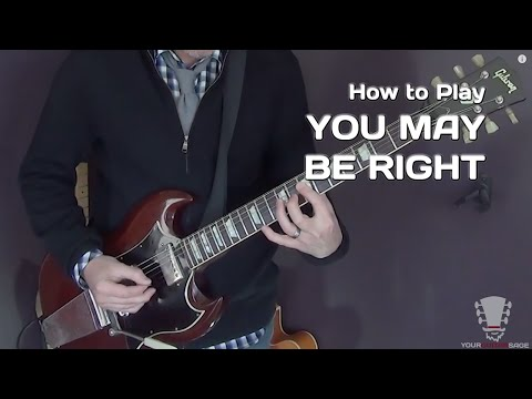 You May Be Right by Billy Joel - Guitar Lesson