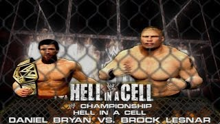 WWE 2K14: Daniel Bryan vs Brock Lesnar - Hell in a Cell - (WWE Championship Match & Custom Promo) thumbnail