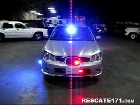 Unmarked Subaru Impreza Emergency Front Lights Pov Youtube