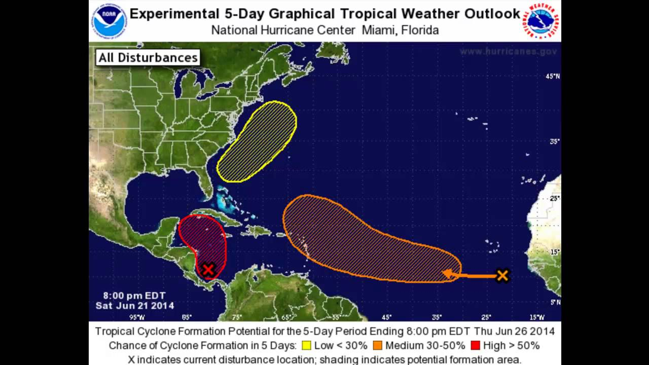 Experimental 5 Day Graphical Tropical Weather Outlook   YouTube