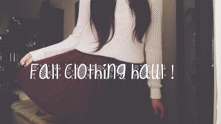 Fall Clothing Haul 2014! Thumbnail