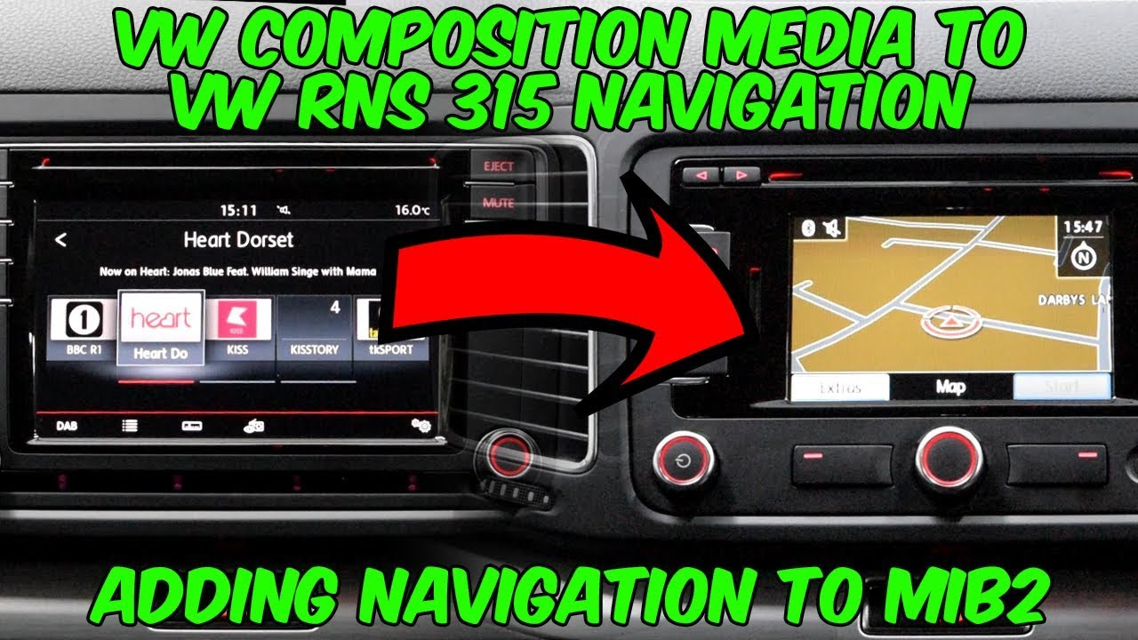 VW Composition Media to VW RNS 315 Navigation