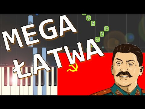 🎹 Hymn ZSRR (Soviet anthem) - Piano Tutorial (MEGA ŁATWA wersja) (VERY EASY) 🎹