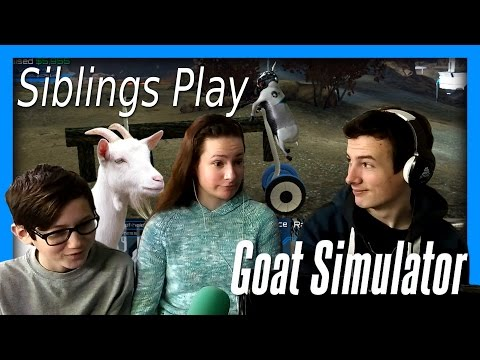 'Utter Chaos!' Siblings Play Goat Simulator Waste of Space DLC |