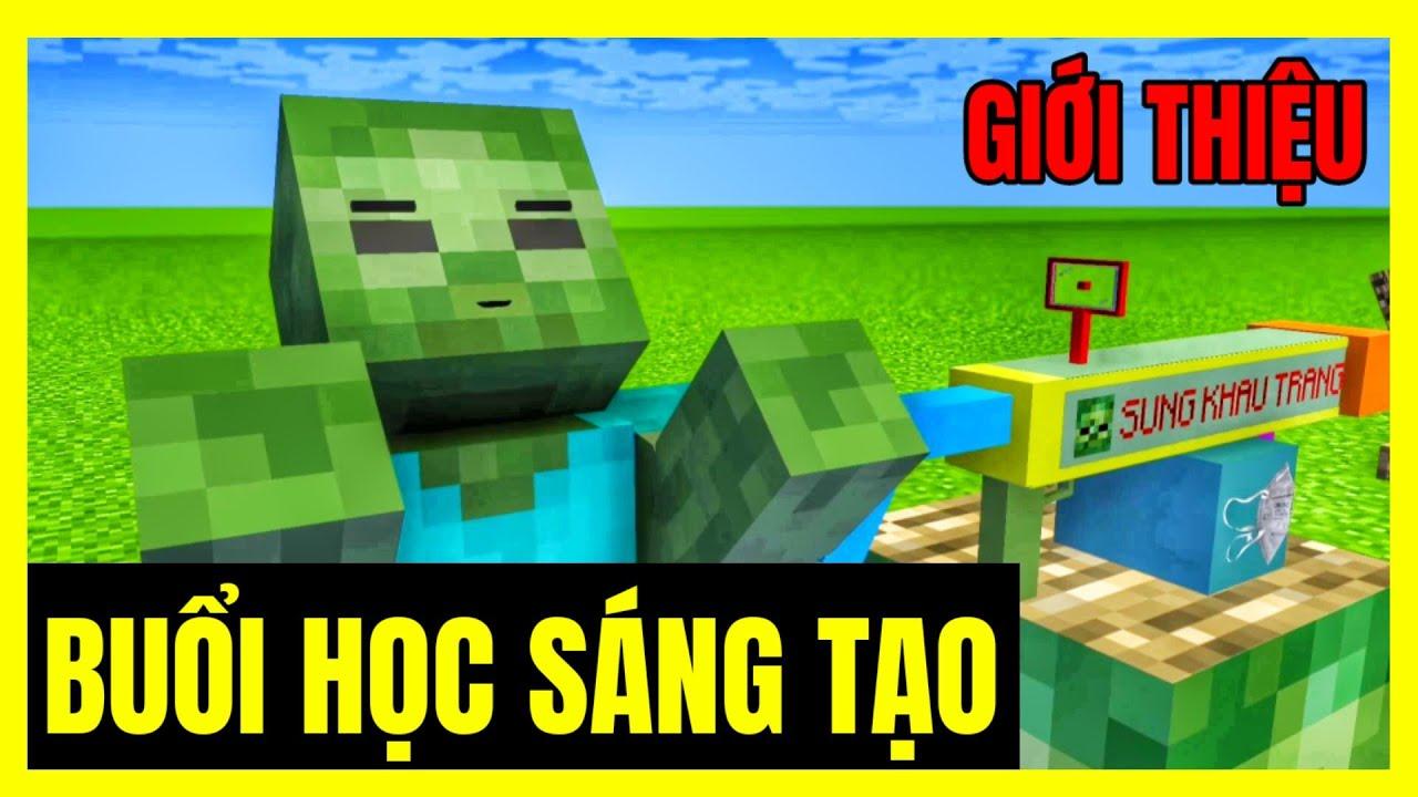 Download [ Lớp Học Quái Vật ] BUỔI HỌC SÁNG TẠO ( Giới Thiệu ) | Minecraft Animation
