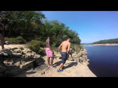 Cliff Jumping at the Francis Walter Dam