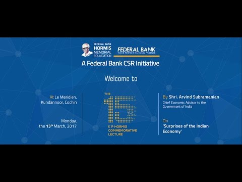 Federal Bank's 15th KP Hormis Commemorative Lecture, Le Meridien 2017