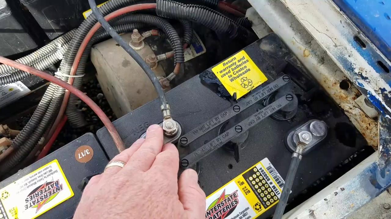 Reviewing Battery Install Of A 36 Volt Golf Cart